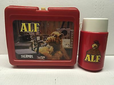 Vintage ALF Plastic Lunch Box with Thermos Alien Productions 1987 Amazing Shape