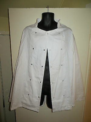 CHEF JACKET WHITE LONG SLEEVE CHEFWEAR UNISEX Size L