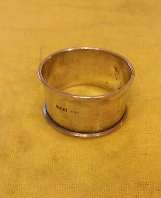 Solid silver Napkin ring Chester 1926