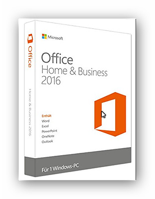 Microsoft Office 2016 Home and Business 1 PC  32/64 Bit Vollversion