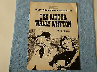 Tex Ritter & Wally Whyton Official UK Tour Programme 1973