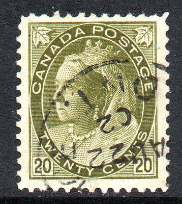 Canada 1900 Queen Victoria 20c Olive-green SG 165 Used