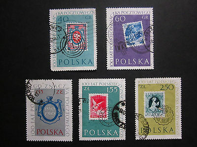 Set Of Five 1960 Commemorative Polish Stamps