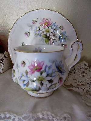 Vintage Royal Albert Cup and Saucer Sonnet Series BYRON England Floral