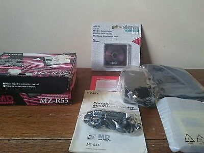 sony minidisc player recorder mz r55,new and never used