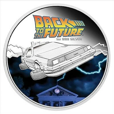 Back to the Future Coin 1 Oz One Ounce Silver Proof & DeLorean Car 2015 IN STOCK
