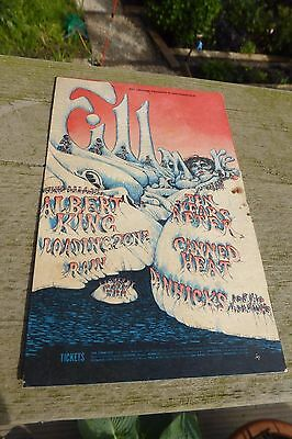 Bill Graham Fillmore  Flyer Canned Heat Ten Years After Tea Lautrec C.1969 Rare