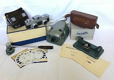 Vintage Camera - Meopta - Stereo Mikroma Ii With Accessories