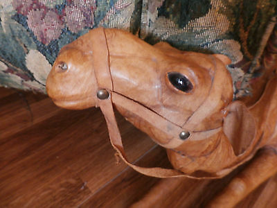Large Paper Mache Leather Wrapped Camel