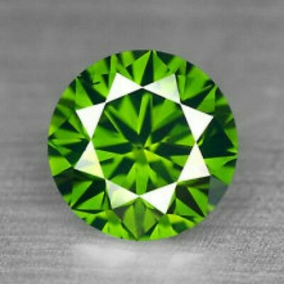1.36 Cts Sparkling Green Colour Natural Loose Diamond