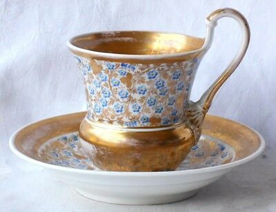 C19Th Kpm Berlin Gilded Cup And Saucer