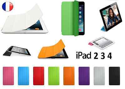 Housse Smart Cover Etui Support Case PU Cuir Magnetique Apple iPad 2 3 4