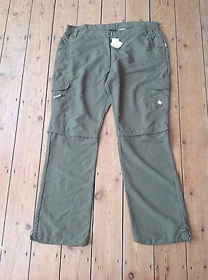 Feroti Khaki Ladies Zip-off Trekking Trousers  Size XL