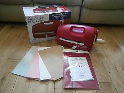 Spellbinders Grand Calibur Die Cutting And Embossing Machine & Raspberry plate