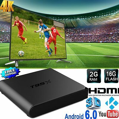 T95X S905X Internet Smart TV Box 4K 2G+16G Android 6.0 Quad Core HD Media Player