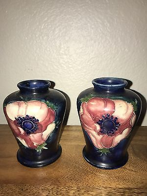 Pair Of Miniature Moorcroft Vases