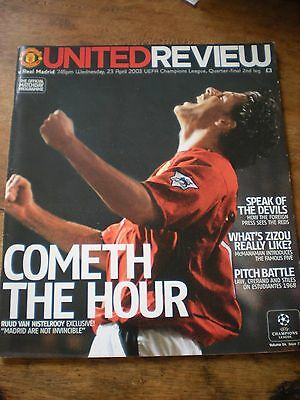 Man Utd v Real Madrid 2003 Champions League Quarter-Final 2nd Leg EXC CONDITION
