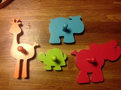 Lovely Set Of Animal Nursery Hooks From Mothercare