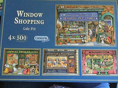 Gibsons - Window Shopping - 3 x 500 Piece Puzzles by Gale Pitt