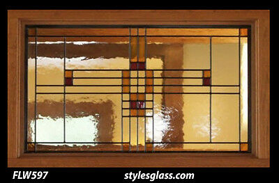 Stain glass window / Transom    FLW 597