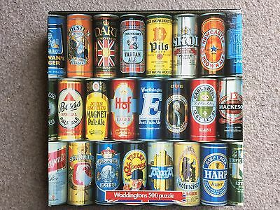 Waddingtons 500 Large Size Piece Puzzle - Beer Cans