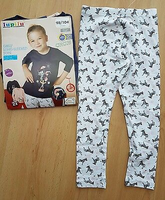 Bnwt Lupilu Girls 3 Piece Outfit Set Age 2-4 (2-3 3-4) (2 Tops & 1 Leggings)