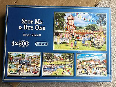Gibsons Stop Me & Buy One 4 x 500 Piece Puzzles by Trevor Mitchell
