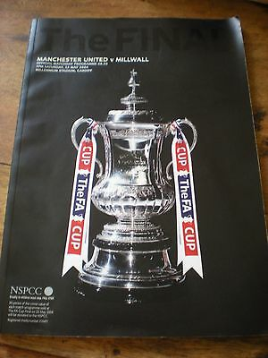 Manchester United v Millwall 2004 FA Cup Final Match programme SUPERB CONDITION