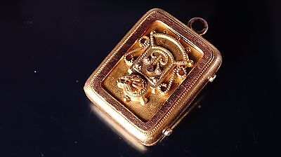 Fine Design victorian Gold Filled Chain fob/Necklace pendant/picture locket