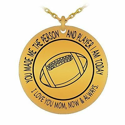 Football Mom 18K Gold Plated Pendant Necklace