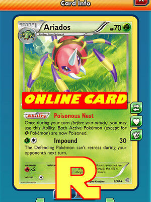 Ariados Support SET (Poison Engine) for Pokemon TCG Online ( ptcgo in Game Card)