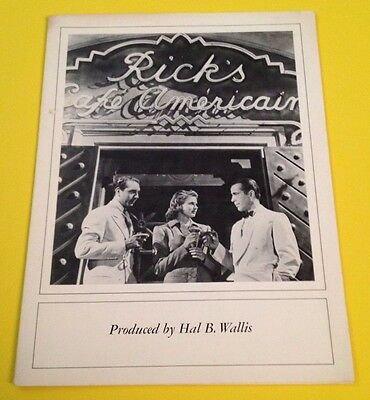 Casablanca production notes from The Los Angeles County Museum of Art event