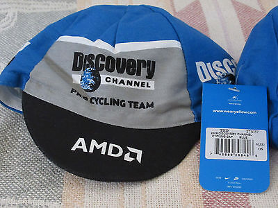 Pro Cycling Team Hat AMD Nike Cap Discovery Channel Racing Bike One Size Stretch