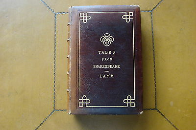 1890 Tales From Shakespeare by Charles and Mary Lamb Hardcover Book