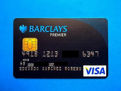 BARCLAYS PREMIER, Spain credit card with chip