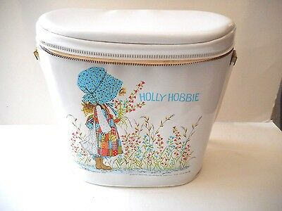 Vintage 1972 Holly Hobbie Vinyl Lunchbox / Doll Case  Mint Condition