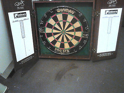 Phil the power Taylor  Dart Board  and Cabinet