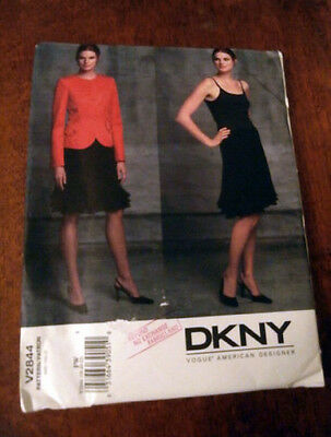 Oop Vogue 2844 DKNY Misses Evening lined Jacket flounced skirt size 18-22 NEW