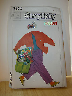 Oop Simplicity Esprit 7262 shirt top pants size small 10-12 NEW