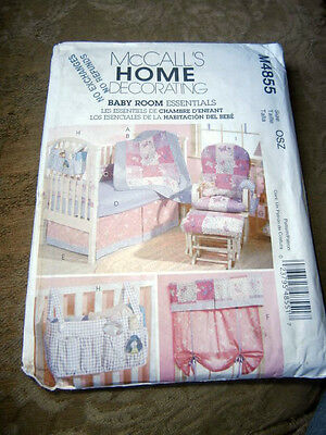 OOp McCalls 4855 Baby Nursery quilt bumpers organizers curtains NEW
