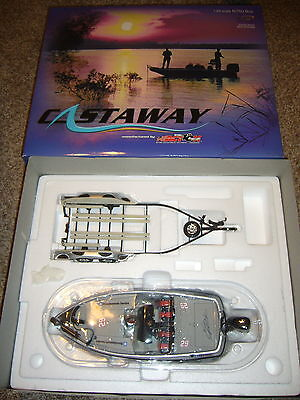 KEVIN HARVIK GM GOODWRENCH 2002 NITRO BASS BOAT & TRAILER Action Castaway 1/24