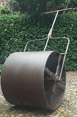 Antique vintage cast iron garden roller