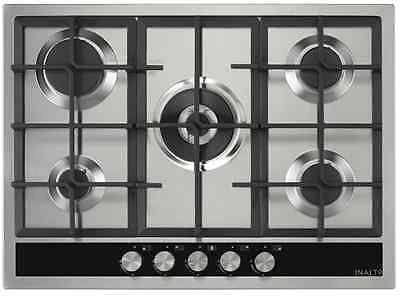 BRAND NEW Inalto ICGW70S 70cm 5 Burner Stainless Steel Gas Cooktop for Kitchen