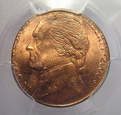 2000 Double Denomination Nickel On Cent Ms63Rd Pcgs