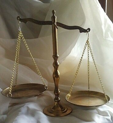 Older Brass Scales of Justice/Decor