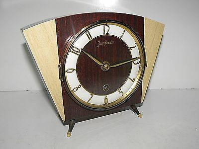 """Stunning Retro Mid Century Junghans Electronic Mantle Clock """"Rare And In GWO"""""""