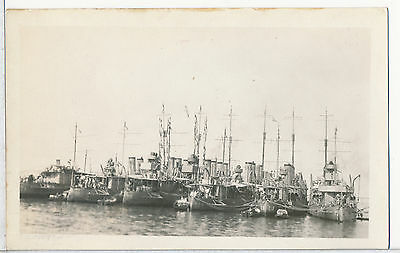 U. S. Destroyers Real Photo RPPC Postcard WWII Era all Identified