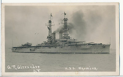 USS Wyoming Real Photo RPPC Postcard 1919