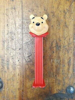Vintage 90's Winnie the Pooh bear Pez Dispenser Disney red Hungary footed collar