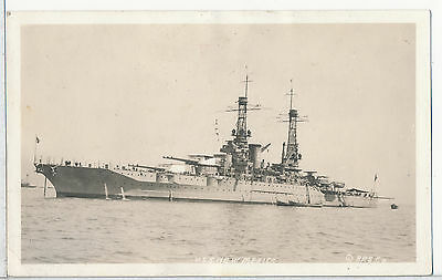 USS New Mexico Real Photo RPPC Postcard